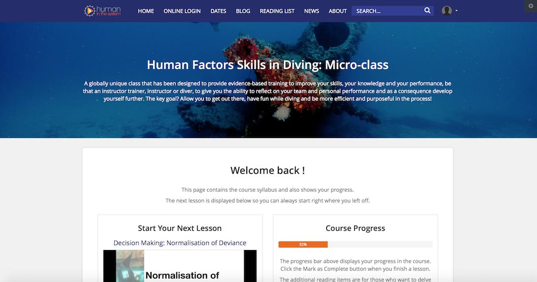Training Human Factors Non Technical Dive Skills